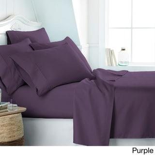 Soft Essentials Ultra-soft 6-piece Deep Pocket Bed Sheet Set (Purple - Full)