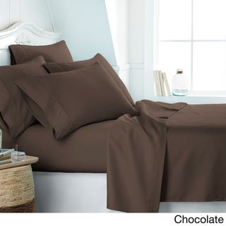 Soft Essentials Ultra-soft 6-piece Deep Pocket Bed Sheet Set (Chocolate - Queen)