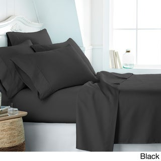 Soft Essentials Ultra-soft 6-piece Deep Pocket Bed Sheet Set (Black - twinxl)