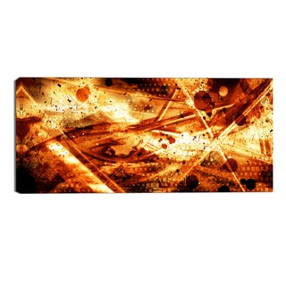Design Art 'Signs of Life' Abstract Canvas Art Print - 32x16 Inches