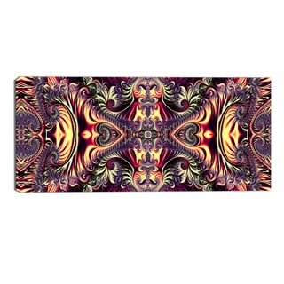 Design Art 'Brassy Abstract Flow' Canvas Art Print - 32x16 Inches