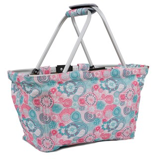 J World Black Blue Raspberry Picnic Tote