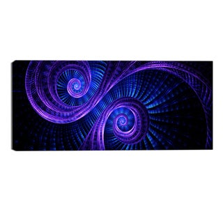 Design Art 'Royal Purple & Blue Dream' Modern Canvas Art Print - 32x16 Inches
