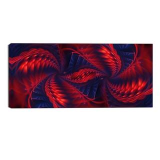 Design Art 'Kaleidoscope' Modern Canvas Art Print - 32x16 Inches