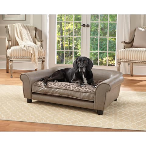 Enchanted Home Pet Rockwell Pewter Pet Sofa