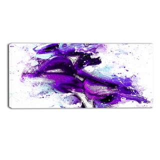 DesignArt 'Purple Kiss' Sensual Canvas Art Print - 362x16 Inches