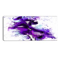 DesignArt 'Purple Kiss' Sensual Canvas Art Print - 362x16 Inches - 32 in. wide x 16 in. high
