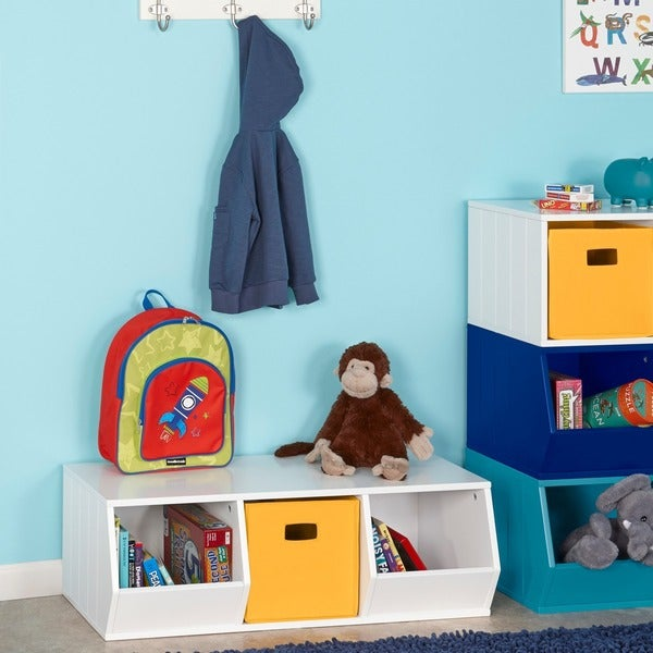 Ordinaire RiverRidge Kids Storage Stacker With 2 Veggie Bins And 1 Cubby