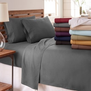 Soft Essentials Ultra-soft 4-piece Bed Sheet Set (Option: Black)