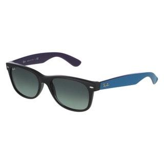 Ray-Ban RB2132 55mm Grey Gradient Lenses Black/Blue Frame Sunglasses
