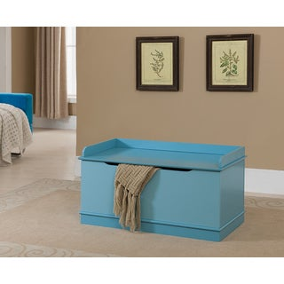 K & B Blue Wooden Toy Chest