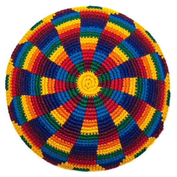 Shop Handmade Rainbow Jewish Kippahyarmulke Guatemala Free
