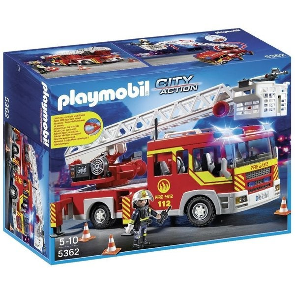 Playmobil City Action Ladder Unit Fire Truck with Lights and Sound