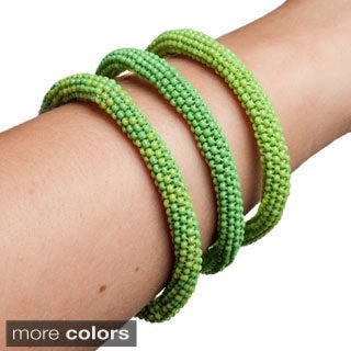 Handmade Stackable Infinity Bracelets (Set of 3) (Guatemala)