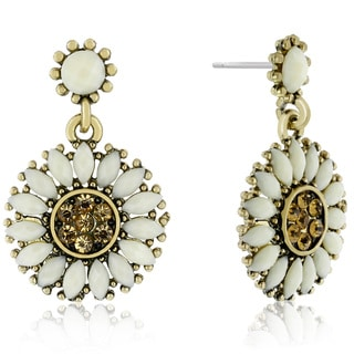 Adoriana Sunflower Crystal Earrings