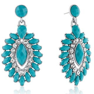 Adoriana Evil Eye Crystal Earrings, Turquoise