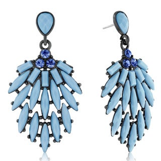Adoriana Cascading Crystal Earrings, Blue