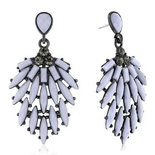 Adoriana Cascading Crystal Earrings, Gray