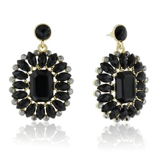 Adoriana Midnight Crystal Earrings, Black