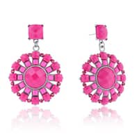 Adoriana Spring Crystal Earrings, Pink