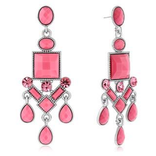 Adoriana Chandelier Crystal Earrings, Pink|https://ak1.ostkcdn.com/images/products/10528152/P17610733.jpg?_ostk_perf_=percv&impolicy=medium