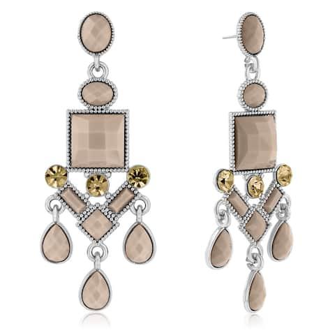 Adoriana Chandelier Crystal Earrings, Almond