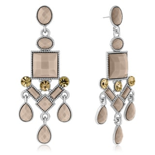 Adoriana Chandelier Crystal Earrings, Almond