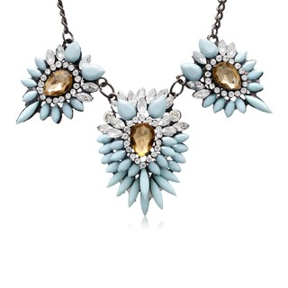 Adoriana Blue Crystal Station Necklace