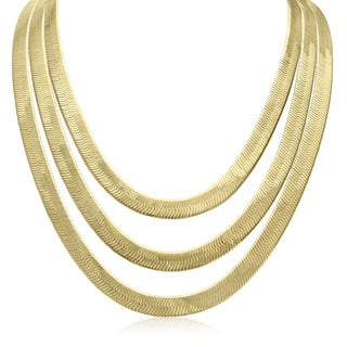 Adoriana Herringbone Strand Necklace