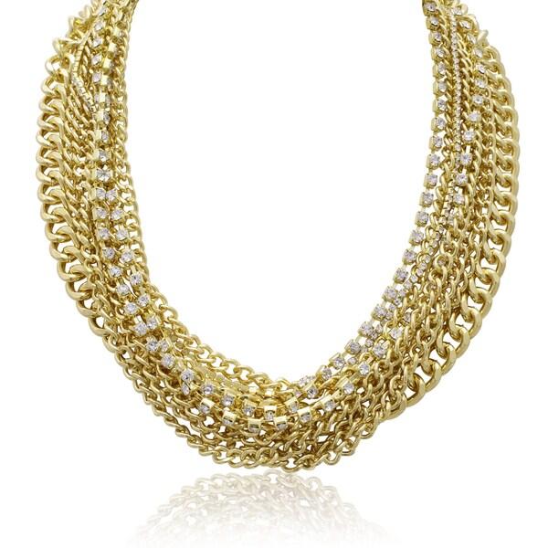 Adoriana Multi Strand Crystal Necklace