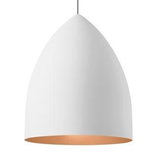 LBL Signal Grande Rubberized White Exterior with Copper Interior CF Pendant