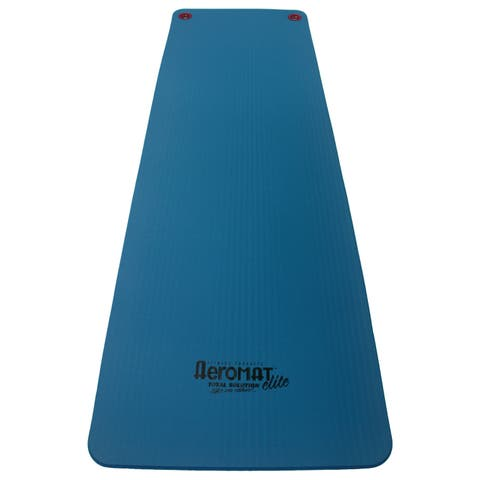 Aeromat 72-inch Blue Workout Mat with Eyelets