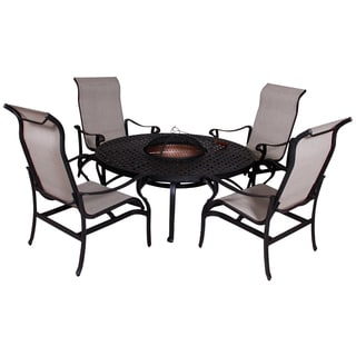 Lorraine Chat Height Fire Pit 5-piece Set