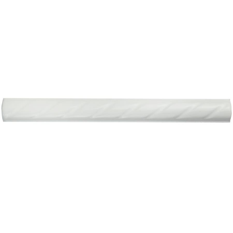 Somertile 1x9.75-inch Cuerda White Ceramic Pencil Wall Tr...