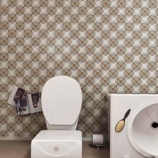 SomerTile 4.875x4.875-inch Chronicle Ornate Ceramic Floor and Wall Tile (32 tiles/5.84 sqft.)