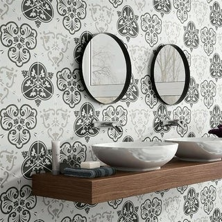SomerTile 8.625x9.825-inch Fantasia Mix Hex Porcelain Floor and Wall Tile (Case of 25)