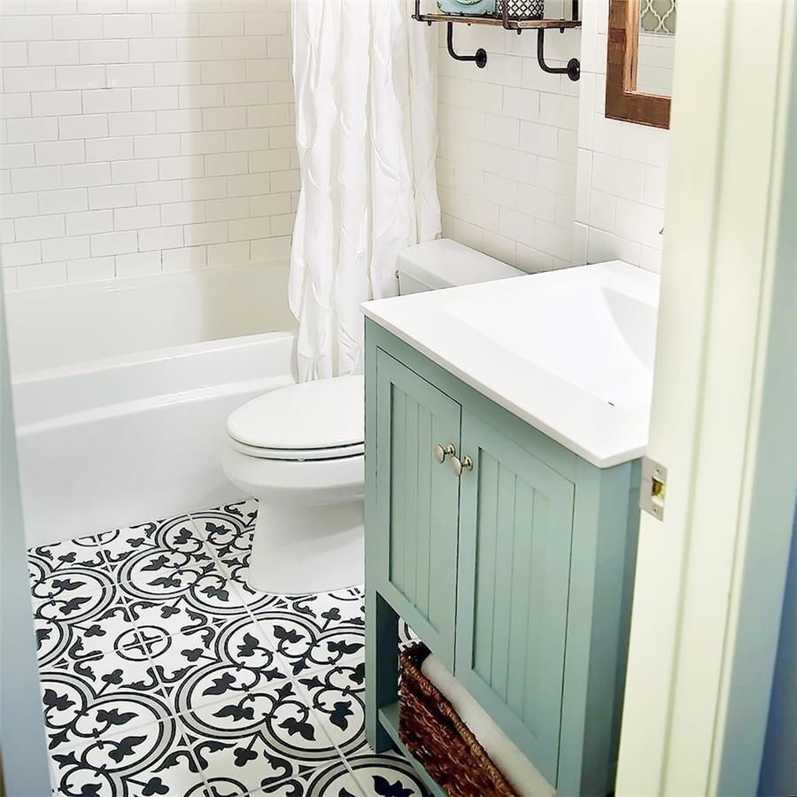 SomerTile Art Grey Porcelain 9.75 Inch X 9.75 Inch Floor/Wall Tiles (