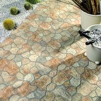 SomerTile 12.25x12.25-inch Yukon Por Rustico Porcelain Floor and Wall Tile (12 tiles/11 sqft.)