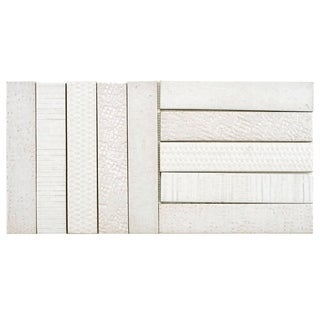 SomerTile 10x20-inch Sophitia Valge Porcelain Mosaic Floor and Wall Tile (Case of 5)