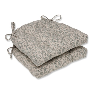 Pillow Perfect Castille Seagrass Reversible Chair Pad (Set of 2)