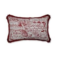 Pillow Perfect Holiday Poinsettia Throw Pillow