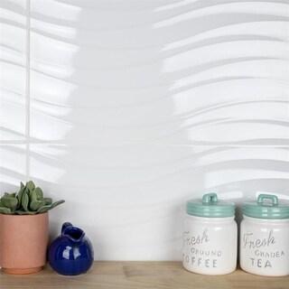 SomerTile 12.375x24.875-inch Amandole Brillo Ceramic Wall Tile (7/Case, 15.4 sqft.)