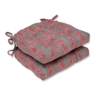 Pillow Perfect Seville Salmon Reversible Chair Pad (Set of 2)