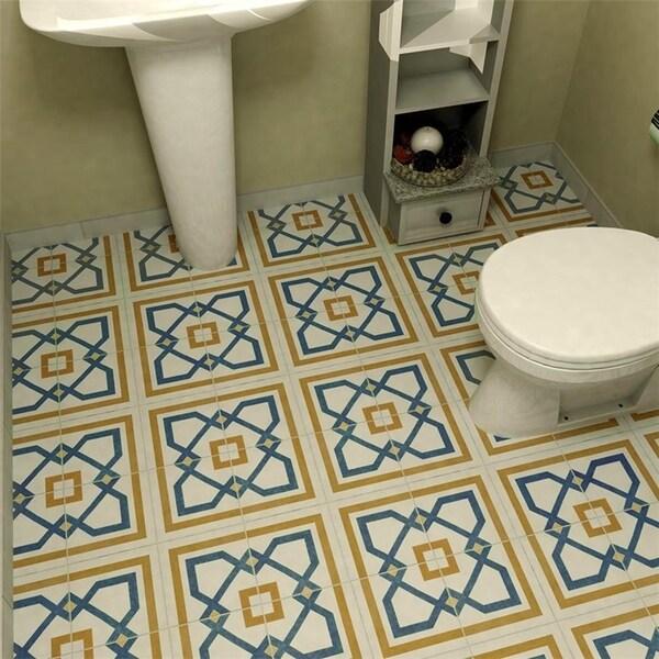 SomerTile 7.75x7.75-inch Renaissance Corner Ceramic Floor and Wall Tile (25 tiles/11 sqft.)