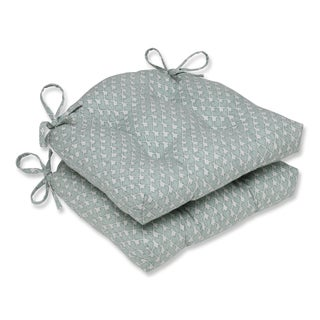Pillow Perfect Diego Seagrass Reversible Chair Pad (Set of 2)