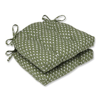 Pillow Perfect Diego Olive Reversible Chair Pad (Set of 2)
