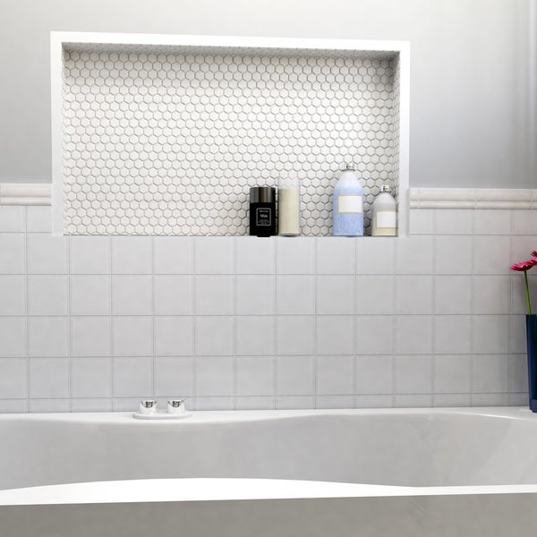 Somertile 7 75x7 75 Inch Lilium White Ceramic Floor And Wall Tile 25