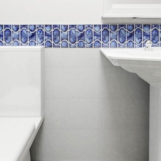 SomerTile 12.25x12.5-inch Tryall Sapphire Porcelain Mosaic Floor and Wall Tile (Case of 10)