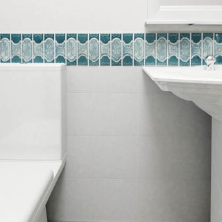 SomerTile 12.25x12.5-inch Tryall Emerald Porcelain Mosaic Floor and Wall Tile (Case of 10)
