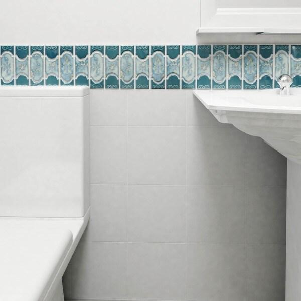 Somertile tryall emerald porcelain mosaic for 12 inch floor tile